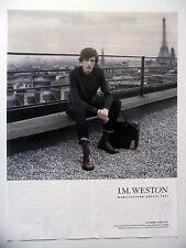 PUBLICITE-ADVERTISING :  J.M. WESTON Derby Golf 641  2014 Maroquinerie