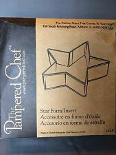 Pampered Chef METAL STAR FORM INSERT #1545 + Booklet - New in Box - Cakes