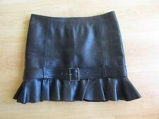 Jupe en cuir PELLESSIMO Paris Noir Taille 40 à - 71%