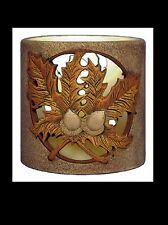 Ceramic Bisque Fall Leaves Candle Holder, Nowell 3079, U Paint, Ready To Paint