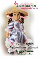 "PATTERN to Make Edwardian Walking Dress, Outfit, Clothes for 18"" American Girl"