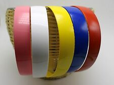 "5 Mixed Color Plastic Wide Alice Hair Band Headband 25mm(1"") Hair Accessories"