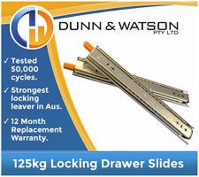 1016mm 125kg Locking Drawer Slides / Fridge Runners - (Cargo 1000mm Heavy Duty)
