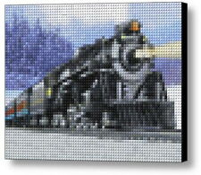 Lionel Train Polar Express Lego Brick Framed Mosaic Limited Edition Art Print