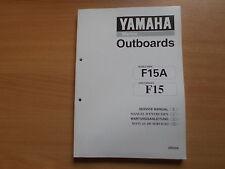 Werkstatthandbuch Yamaha Außenborder 15 PS (hp) manuel dentretien service manual