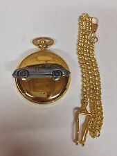 Jaguar E Type Series 1 ref101 Pewter Effect gold case pocket watch