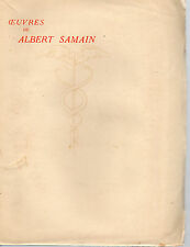 OEUVRES DE ALBERT SAMAIN Tome 3, CONTES, POLYPHEME, POEMES INACHEVES, MERCURE F