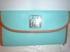 NWT  Dooney & Bourke Continental Clutch Wallet  Pebbled Leather Sky