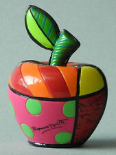 ROMERO BRITTO MINI SKULPTUR - APFEL - POP ART KUNST AUS MIAMI