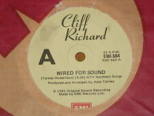 "CLIFF RICHARD *RARE 7"" 45 ' WIRED FOR SOUND ' 1981 VGC+"