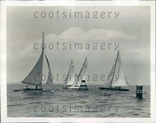 1939 Sailboats Racing With Boats Sea Fever Clown Inflation Jane Press Photo