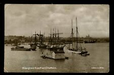 Kent CHATHAM View from Sun Pier  swimming raft + tall ships RP PPC