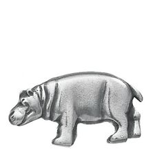 """Danforth Pewter 1-1/8"""" Wide Shank Style Hippo Shaped Buttons - Set of 2"""