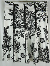 GERRY WEBER Falten Rock Gr. DE 44 schwarz weiß Skirt Jupe 100% Baumwolle