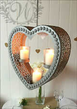 DECORAZIONI per Giardino Matrimonio Porta tea light in vetro da appendere shabby chic vintage