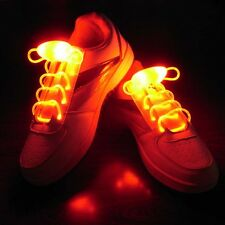 Colorful LED Luminous Light Up Glow Nylon Strap Shoelace Shoe Laces Party Disco