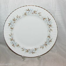 2 ROYAL STANDARD DAWN DINNER PLATES FINE BONE CHINA BLUE FLOWERS ENGLAND