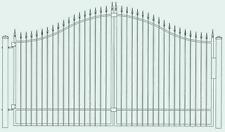 Custom Built Steel Driveway Entry Gate 12ft Wide Single Swing, With Post Package