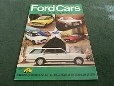 Motor Show 1978 FORD ALL MODEL CATALOGUE Escort Capri Cortina Granada BROCHURE