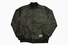 RARE CROOKS & CASTLES 100%  Authentic LEATHER REGIME FLIGHT JACKET IN BLACK.
