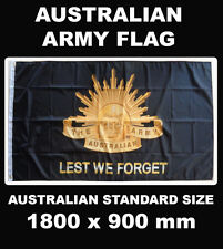 Australian Army Lest We Forget Flag Rising Sun Badge Australia Flag Black