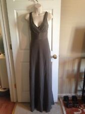 NWT J.Crew Brown Taupe Silk Long Dress Lined Sample Sale, Size 2