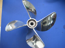 Signature 14  X 28 Four Blade Drag Semi Cleaver Propeller V-6 Mercury Outboards