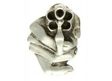 "(#J9133) POINT BLANK REVOLVER PISTOL Pewter Vest / Hat Pin 1"" x 1.5"""