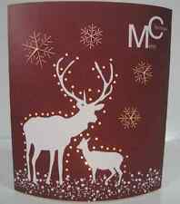 Merry Christmas Reindeer Lighted Card LED Picture 16.5 x 13cm - Changes Colour