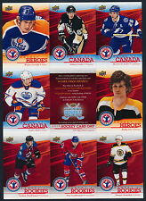 2014 Hockey Card Day Uncut Sheet  MacKinnon RC, Crosby, Gretzky, Orr