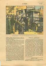 Food truck Friterie Frites Poissons Camion-Restaurant Paris 1925 ILLUSTRATION