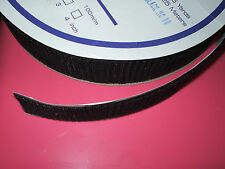 Hook Black Sticky Adhesive Tape 50mm - Self Backing Fastner Strong Grip Per 1m