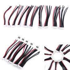 10Pcs 2-6S Balance Charger Silicone Wire JST-XH Connector Adapter For RC Battery