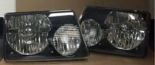 For 93 94 95 96 97 Ford Ranger Black Housing Headlight Head Lamp Pair Left Right