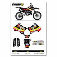 1993-1995 YAMAHA YZ 125 250 Dirt Bike Graphics Kit Motocross Decal CHESTERFIELD