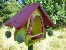 ORIGINAL die VOGELVILLA Futterhaus FUTTERHOBBIT Vogelhaus gelb