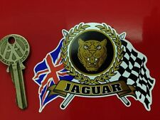 JAG Flags & Scroll car sticker Mk2 D E type XK120