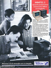 PUBLICITE ADVERTISING 105  1990  FRANCE TELECOM   le MINITEL 2