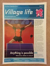 LONDON 2012 GENUINE VILLAGE LIFE NEWSPAPER ISSUE 11 PARALYMPIC GAMES 8SEP *RARE*
