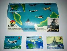 Malaysia 1993 LIMA '93 Langkawi Maritime Aerospace Expo 3v Stamps + M/S Mint NH