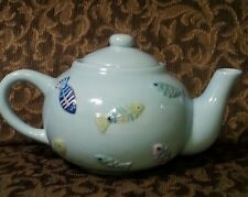 TEAPOT La Dolce Vita by JJG Designs - Ocean of Fun Collection Blue / Fish