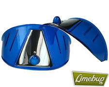 Limebug Blue Headlight Shield Eye Brow Visor x2 VW Bus Van Beetle T1 Head Light