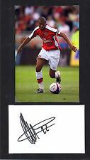 GAEL CLICHY ARSENAL HANDSIGNED DISPLAY APPROX 12 x 8 OVERALL