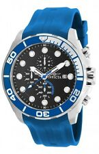 New Mens Invicta 16232  50mm Pro Diver Typhoon Chronograph Blue Rubber Watch
