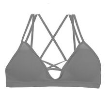 Cage Bralette Cutout Bustier Crop Top Seamless Bra Padded Sports Bra Workout