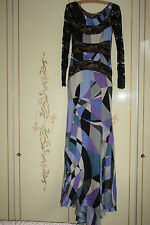 BNWT Stunning Emilio Pucci Maxi Runway Dress Silk Chantilly Lace XS UK 6 £3000+