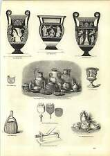 Old Engravings Roman Vessels From British Burial Places Etruscan Vase