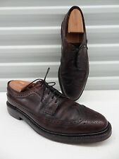 FLORSHEIM Imperial Shell Cordovan Leather burgundy Longwing Blucher Mens 9.5 C
