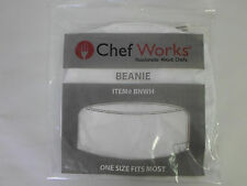 NEW Chef Works White Cooking Beanie Hat One Size Fits Most