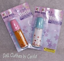 Large Magic Disappearing 6 Inch Baby Doll Milk & Juice Bottles - Pretend Play